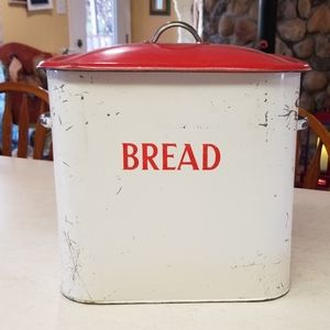 Price firm. Antique Tala bread bin